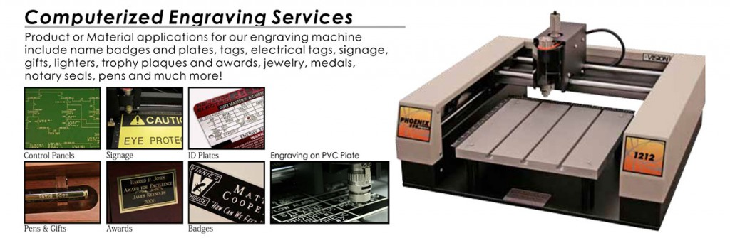 2. Computerized Engraving Services